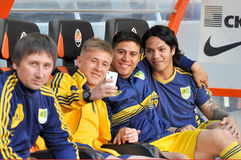 Players Metalist photographed by phone Stock Photography