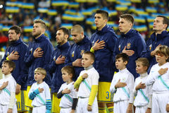 Players of National football team of Ukraine Royalty Free Stock Photo