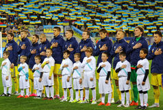 Players of National football team of Ukraine Stock Photo
