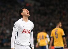 Heung-Min Son. Players pictured during the UEFA Champions League Round of 16 game between Tottenham Hotspur and Juventus Torino held on March 7, 2018 at Wembley Stock Images