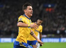 Paulo Dybala goal celebration Royalty Free Stock Photos