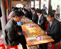 Players play Chinese chess in traditional festival Stock Image
