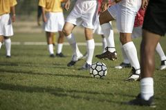 Players Playing Football Royalty Free Stock Photos