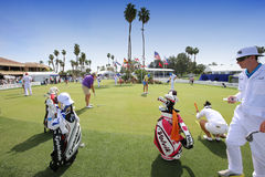 Players at practice at the ANA inspiration golf tournament 2015 Stock Photography
