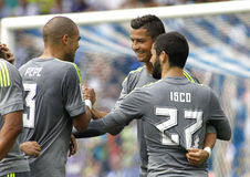Players of Real Madrid celebrating goal Stock Photography