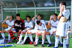 Players of Real Madrid on rest Stock Photo
