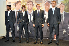 Players of Shakhtar in a business suits Stock Image