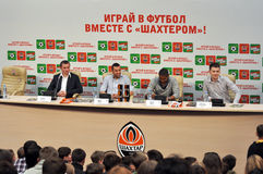 Players of Shakhtar football team Stock Images