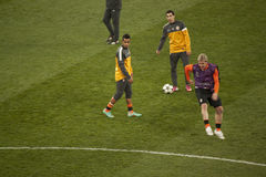 Players of Shakhtar warming up Stock Photography