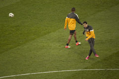 Players of Shakhtar warming up Royalty Free Stock Photo