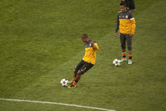 Players of Shakhtar warming up Royalty Free Stock Image