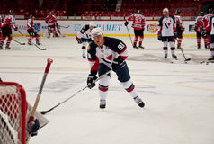 Players Slovan (Bratislava) and the Donbass (Donetsk) Stock Images