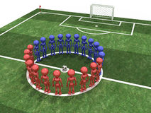 Players stand in a circle #7 Royalty Free Stock Photo