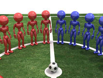 Players stand in a circle #3 Royalty Free Stock Photos