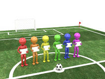 Players stand and hold hands on a background of signs  #4 Royalty Free Stock Photos