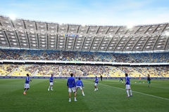 Players trains at NSC Olimpiyskiy stadium in Kyiv Stock Image