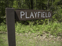Playfield Sign Royalty Free Stock Photos
