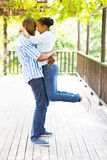 Playful african couple Royalty Free Stock Photos