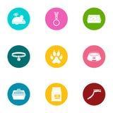 Playful animal icons set, flat style. Playful animal icons set. Flat set of 9 playful animal vector icons for web isolated on white background Royalty Free Stock Photos