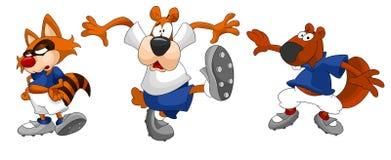 Raccoon dog beaver clipart cartoon style  illustration whi Stock Image