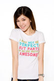 Playful asian girl in casual clothes Stock Photos