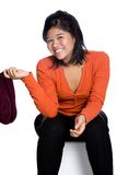 Playful Asian teenager, isolated Stock Images
