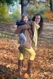 Playful autumn. stock image