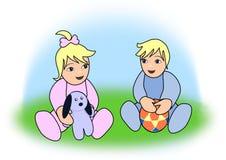 Playful Babies Stock Photo