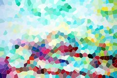 Playful background, colorful shapes in pastel hues Stock Photo