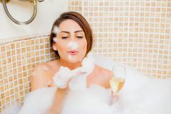 Playful during bath Royalty Free Stock Photos