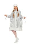 Playful beautiful Snow Maiden royalty free stock image