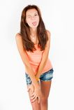 Playful beautiful young woman Royalty Free Stock Photo
