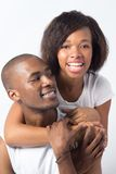 Playful Black Couple on Valentines Day Stock Photo