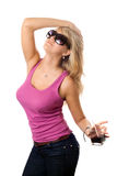 Playful blond Stock Images