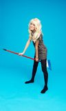 Playful Blond Cleaner Stock Images