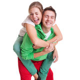 Playful bright couple Stock Image