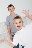 Playful brothers Royalty Free Stock Photos