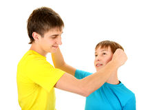 Playful Brothers Royalty Free Stock Photo