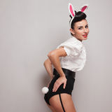 Playful bunny girl Royalty Free Stock Photos