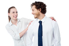 Playful business colleagues having fun Stock Images