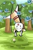 Playful calf character cartoon style  illustration Royalty Free Stock Photos