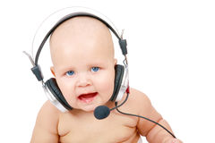 Playful call-center representative Royalty Free Stock Photos
