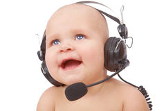 Playful call-center representative Stock Images