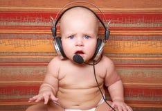 Playful call-center representative Royalty Free Stock Photo