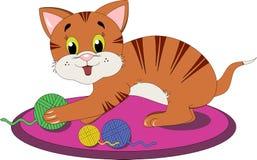 Playful cat stock illustration