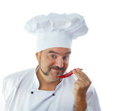 Playful Chef with chili Royalty Free Stock Photos