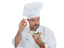 Playful Chef with chili Royalty Free Stock Images