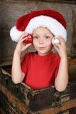 Playful Christmas boy Royalty Free Stock Photo