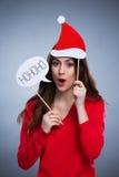 Playful christmas woman Stock Image