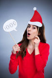 Playful christmas woman Royalty Free Stock Image